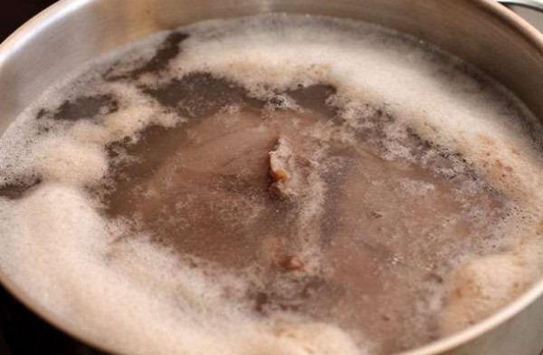 Пена при варке мяса