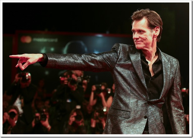 "Actor Jim Carrey poses during a red carpet event for the movie ""Jim & Andy: The Great Beyond"" at the 74th Venice Film Festival in Venice, Italy September 5, 2017. REUTERS/Alessandro Bianchi - RC1410636820"