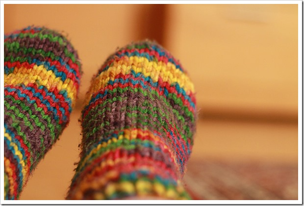 Warm Hand Labor Knit Winter Colorful Sock